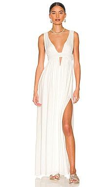 Indah Anjeli Empire Maxi Dress in White
