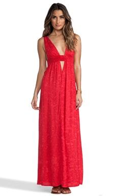 Indah Anjeli Empire Maxi Dress in Pink Salt