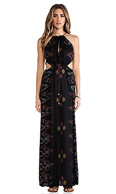 Indah Mistral Maxi Dress in Black Endek
