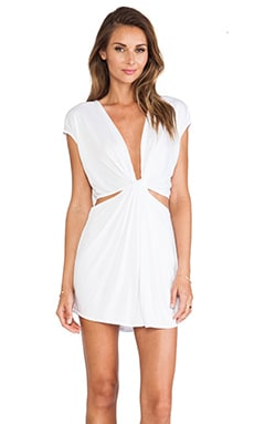 Indah Rae Cutout Mini Dress in White