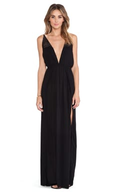 Indah X REVOLVE Isla Maxi Dress in Black & Crochet