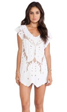 Indah X REVOLVE Lucia Krawang Mini Dress in White
