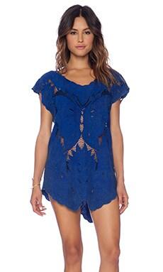 Indah x REVOLVE Lucia Krawang Mini Dress in Stonewash Cobalt