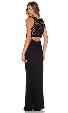 Indah Roam Basket Weave Tail Maxi in Black