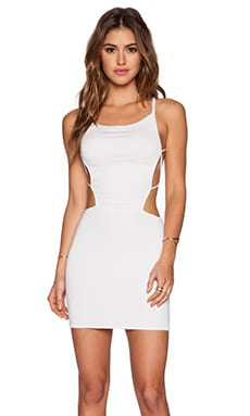 Indah Akina Seamless Mini Dress in White