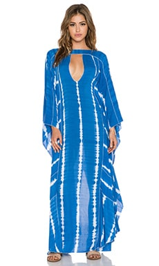 Indah Asante Caftan in Garis Blue