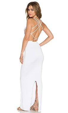 Indah Tamaa Seamless Maxi Dress in White