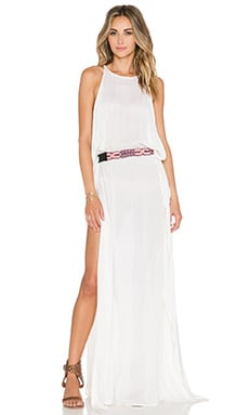 Indah Twiga Open Side Maxi Dress in Ivory