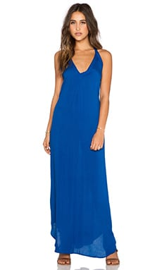 Indah Carmen T Back Maxi Dress in Blue