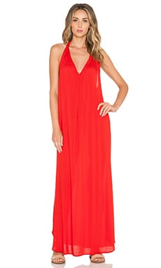 Indah Carmen T Back Maxi Dress in Red