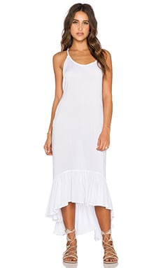 Indah Leyti Ruffle Sundress in White