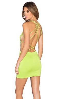 Indah Akina Cut Out Dress in Lime