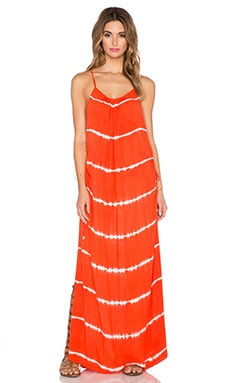 Indah Robin Cinch Maxi Dress in Garis Orange