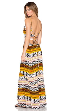 Indah Zera Ruffle Bottom Maxi Dress in Kenya