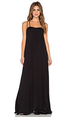 Indah Shale Minimal Maxi Dress in Black