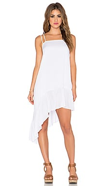 Indah Sierra Asymmetrical Sundress in White