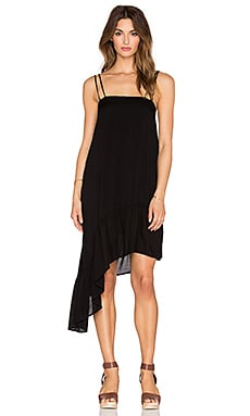 Indah Sierra Asymmetrical Sundress in Black