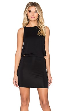 Indah Bow Mini Dress in Black