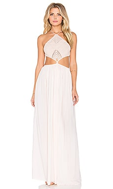 Indah Revel Maxi Dress in Peach