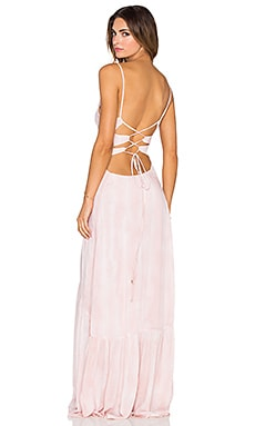 Indah Zera Maxi Dress in Blush Snake