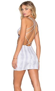 Indah Akina Mini Dress in Grey Snake