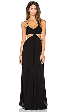 Indah Innocence Maxi Dress in Black