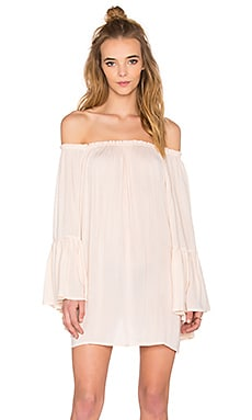 Kamani Off the Shoulder Mini Dress in Sand