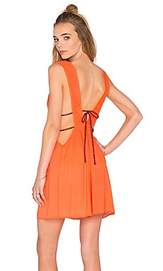 Stellar Pleat Dress in Fluoro Orange
