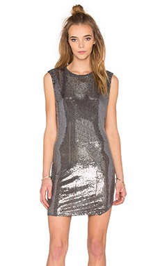 Tallow Sequined Dress in Ash