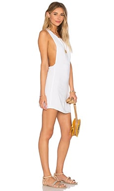 Juno T Back Dress in White