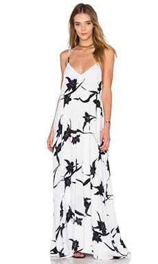 Rain Maxi Dress in Black Orchid