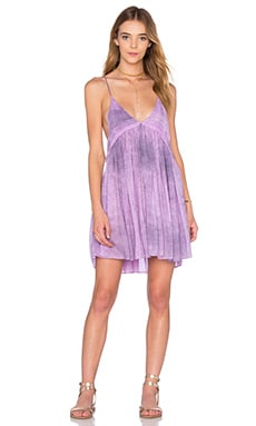 Saffron Printed Mini Dress in Lilac Crocodile