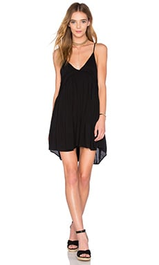 Saffron Solid Mini Dress en Noir