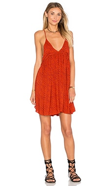 Saffron Printed Mini Dress in Lava Tiger