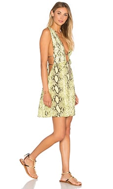 Stellar Deep V Dress en Citrus Python