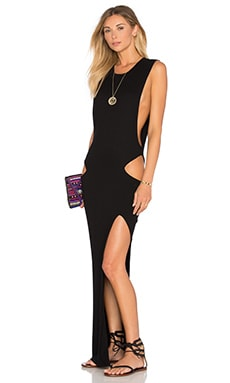 Indah Thea Cutout Maxi Dress in Black