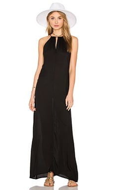 Miro Side Pocket Maxi Dress in Black