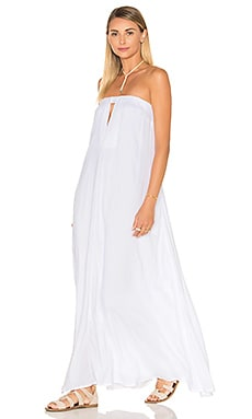 Sail Strapless Maxi Dress en Blanc