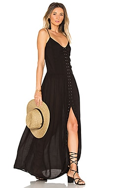Studded Maxi Dress in Schwarz