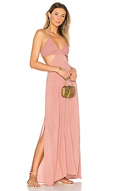 Blaze Cutaway Maxi Dress in Dusty Rose
