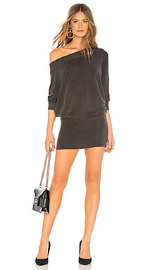 Baby Ruth Boat Neck Mini Dress Indah $136