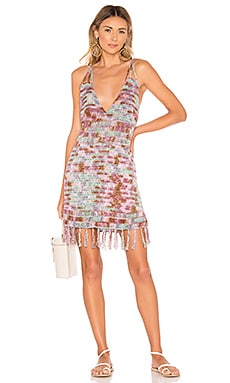 Lorne Batik Crochet Mini Dress Indah $68