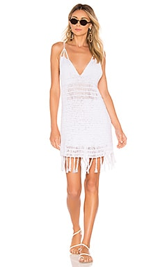 Lorne Solid Crochet Mini Dress Indah $110