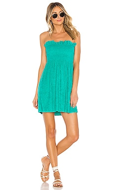 Mercy Solid Strapless Mini Dress Indah $59