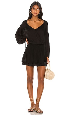Sashi Solid Blouson Mini Dress Indah $172