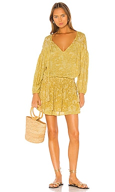 Sashi Printed Blouson Mini Dress Indah $189