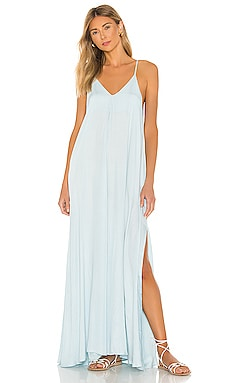 Rain Simple Spaghetti Strap Maxi Dress Indah $229