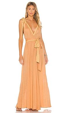Vivian A-line Modern Goddess Maxi Dress Indah $202 NEW