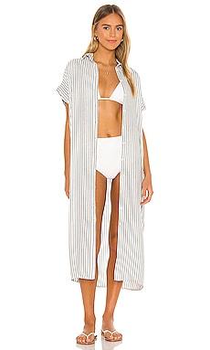 Delphina Button Up Mid Length Shirtdress Indah $172