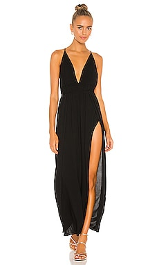 River Solid Triangle Plunge Dress Indah $172 BEST SELLER